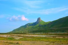 Holy mountain in Azerbaijan, Besh Barmag Royalty Free Stock Photos