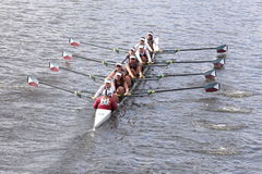 Holy Names Academy races in the Head of Charles Regatta Women's Youth Eights Stock Image