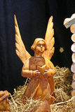 Holy nativiti scene, angel, Christmas exhibition in Klovicevi dvori, Zagreb 2015. Royalty Free Stock Photography