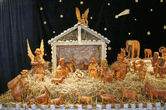 Holy nativiti scene 1, Christmas exhibition in Klovicevi dvori, Zagreb 2015. Stock Images