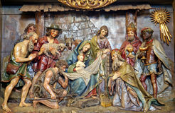Holy nativiti scene, relief, Stitar, Croatia, Europe Royalty Free Stock Images