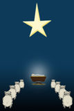 Holy Night. An illustration of Baby Jesus in a manger Royalty Free Stock Photography
