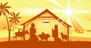 Holy night, way to Bethlehem Royalty Free Stock Photos