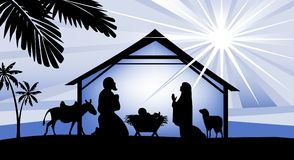 Holy night, way to Bethlehem Stock Image