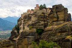 Holy Orthodox Monastery at Meteora Royalty Free Stock Photo