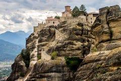 Holy Orthodox Monastery at Meteora Royalty Free Stock Image
