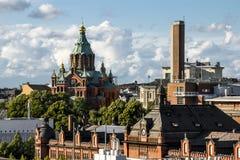 Holy Orthodox Uspensky Cathedral in Helsinki.Finland. Royalty Free Stock Image