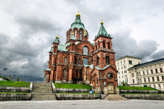 Holy Orthodox Uspensky Cathedral in Helsinki.Finland. Stock Photography