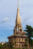 Holy pagoda at chalong temple, Phuket, Thailand Royalty Free Stock Photos