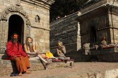 Holy people (Sadhu) Stock Photo