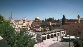 Holy places in Jerusalem, a general view stock footage
