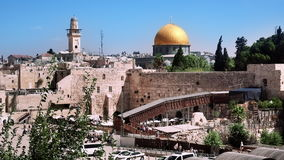 Holy places in Jerusalem stock video