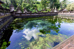 Holy pool in Bali ,Pura Tirta Empul Temple Royalty Free Stock Images