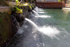 Holy pool in Bali ,Pura Tirta Empul Temple Royalty Free Stock Photos