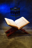The Holy Quran. Openned on a wooden stand Royalty Free Stock Photos