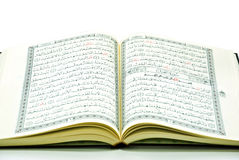 The Holy Quran. Closeup isolated on white background Royalty Free Stock Photos