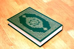 The Holy Quran. A holy muslim book (Quran) on the table Royalty Free Stock Photos