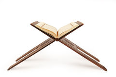 The holy quran. Open Quran stand. The holy quran stock image