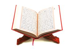 The Holy Quran. Isolated on white Stock Photos
