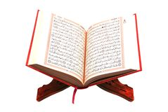 The Holy Quran. Isolated on white Royalty Free Stock Image
