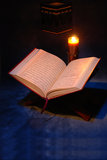 The Holy Quran. Openned on stand Stock Images