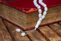Holy Quran with beads Royalty Free Stock Photography