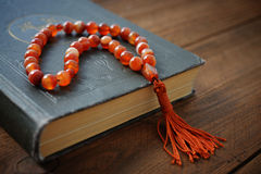 Holy Quran with beads Royalty Free Stock Image