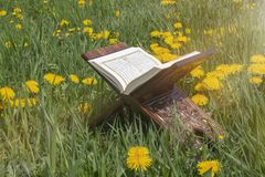 The Holy Quran stock image