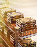 The holy Quran books in a mosque Royalty Free Stock Image