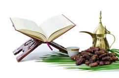 The Holy Quran and Dates Fruit Stock Photography