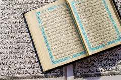 Holy Quran Inside Text. Holy Quran Inside  Arabic Language Text Stock Photos