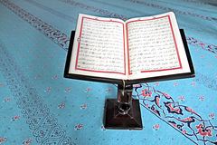The Holy Quran in a Mosque Stock Photos