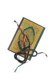 The Holy Quran with rosary royalty free stock photography