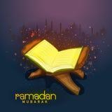 Holy Quran Shareef for Ramadan celebration. Royalty Free Stock Image
