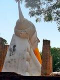 Holy reclining Buddha sculpture Wat Khun Inthapramun Royalty Free Stock Photos