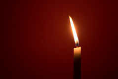 Holy religious candles burning Stock Photo