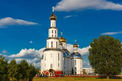 Holy Resurrection Cathedral in Brest, Belarus. Holy Resurrection Cathedral in Brest at summer day, Belarus royalty free stock image