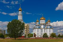 Holy Resurrection Cathedral in Brest, Belarus. Holy Resurrection Cathedral in Brest at summer day, Belarus royalty free stock photo