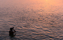 Holy River Ganga Stock Images