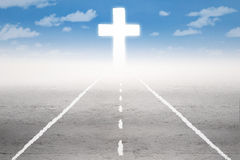 Holy road to the cross Royalty Free Stock Photo