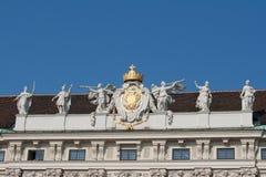 Holy Roman Empire coat of arms. Hofburg castle, Vienna Stock Photo