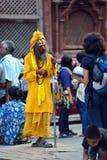 Holy sadhu hindu man Royalty Free Stock Photography