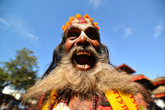 Holy sadhu hindu man Stock Photography