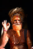 Holy sadhu hindu man Royalty Free Stock Photo