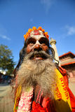 Holy sadhu hindu man Stock Photos