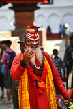 Holy sadhu hindu man Royalty Free Stock Image