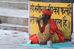 Holy Sadhu of India Royalty Free Stock Images