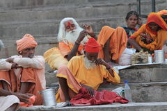 Holy Sadhu of India Stock Photos