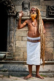 Holy Sadhu man blessing Stock Photo