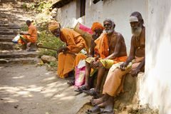 Holy Sadhu men in India Stock Photos